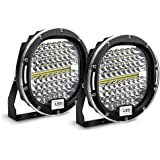Safego LED Pods Light Bar 7 inch Round 2Pcs 300W 30000Lm Waterproof Spot Beam Led Work Light Off Road Lights Driving…