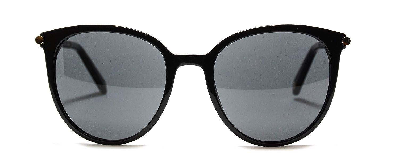 6dd26b6deb7cc Amazon.com  Sunglasses Balmain BL2125 01 Black round sunglasses  Size 55-20-135  Clothing