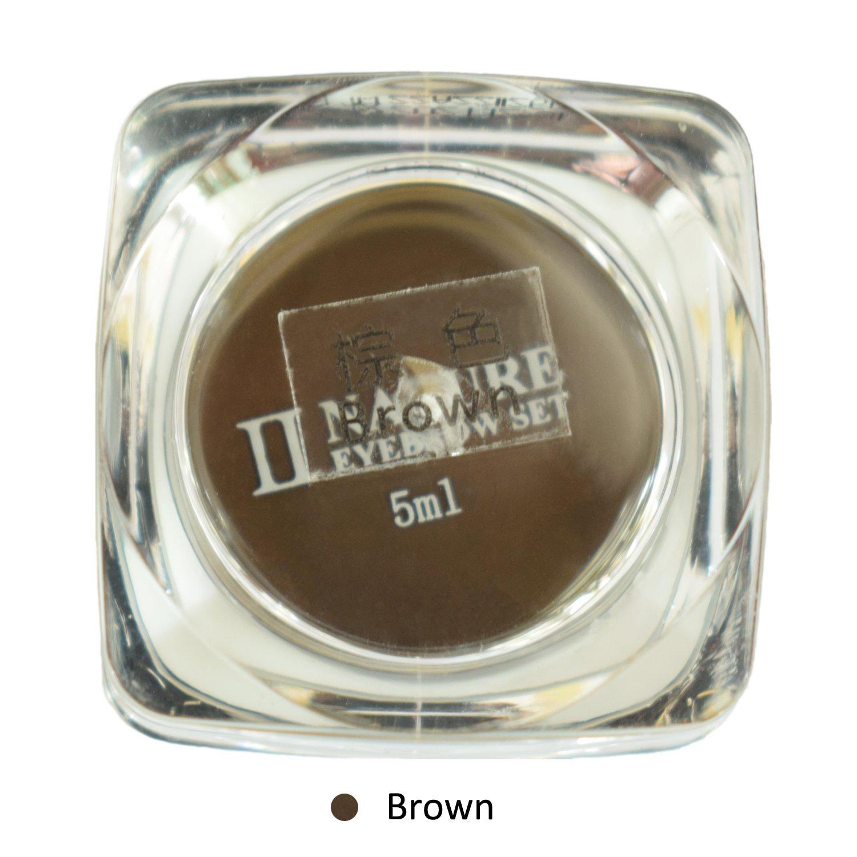 e-Life 100% Nature Sourcils Tatouage Encre pour Sourcils Microblading Tatouage Maquillage PCD Pâte Crème / Permanent Microblading Pigment 5ml / bouteille (Noir) Real Vision