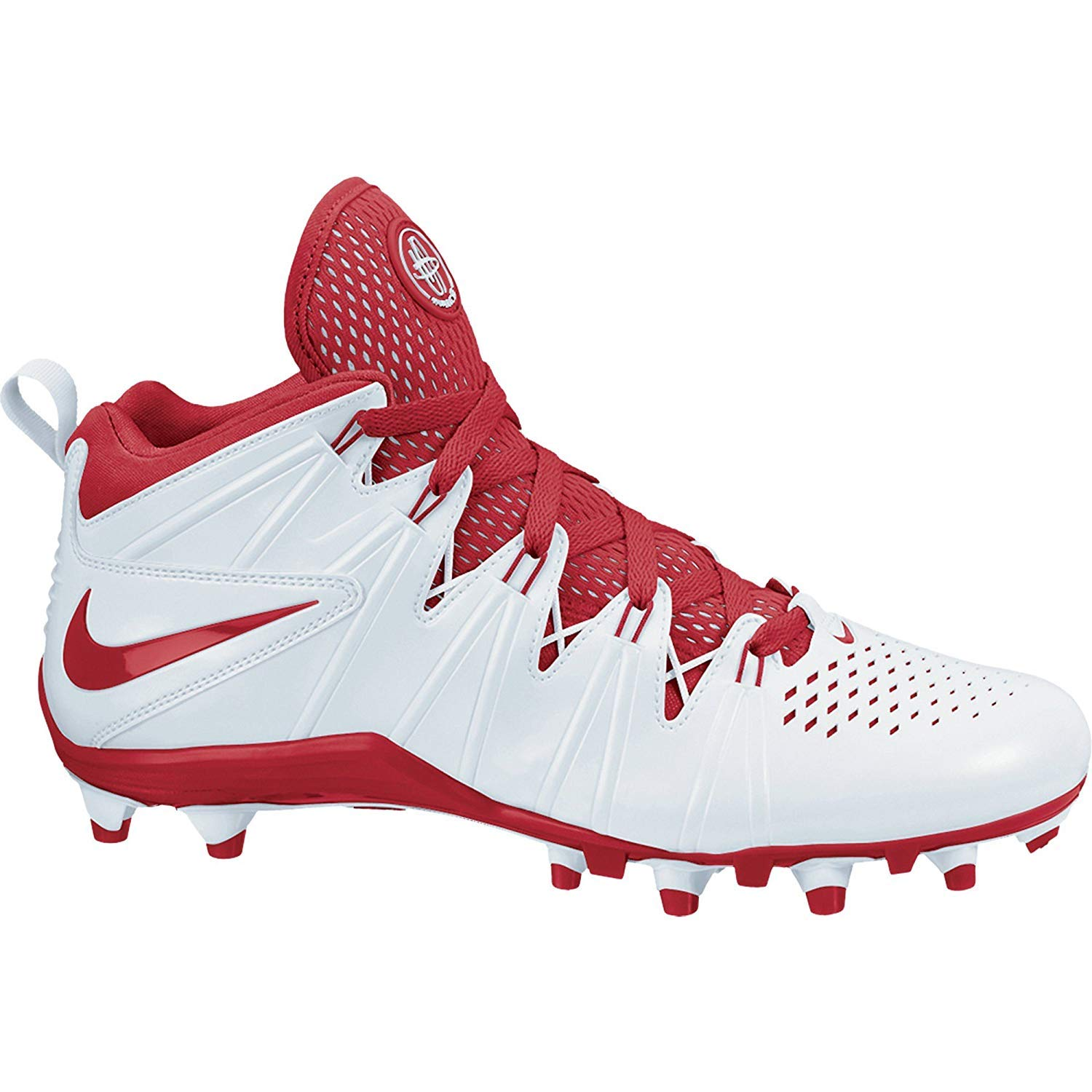 73192f501c61 Amazon.com  NIKE NEW Huarache 4 LAX Lacrosse Football Cleats White Red Sz  11.5 M  Sports   Outdoors