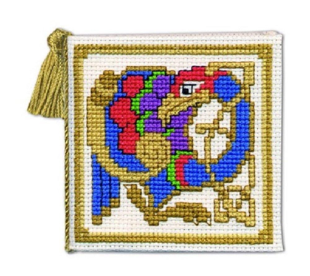 Celtic Bird-Kit per punto croce con custodia