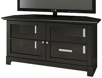 Amazon Com Nexera Pinnacle 49 Inch Modern Unit 102906 Black Corner