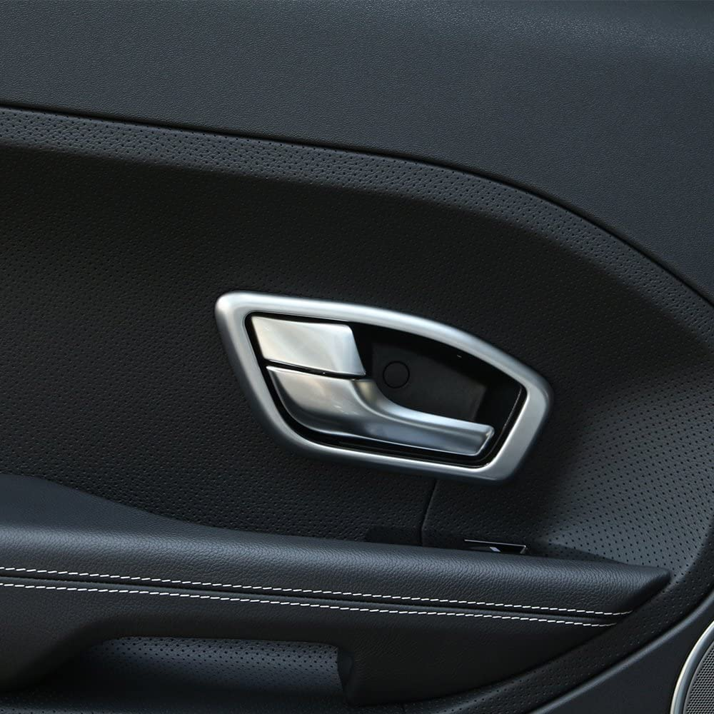 4pcs ABS Matte Interior Car Interior Door Handle Frame Trim For RangeRover Evoque 2016-2018