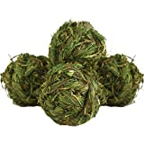 Rabbit Chew Ball Timothy Grass Grinding Small Animal Activity Play Chew Toys for Bunny Rabbits Hamster Guinea Pigs…