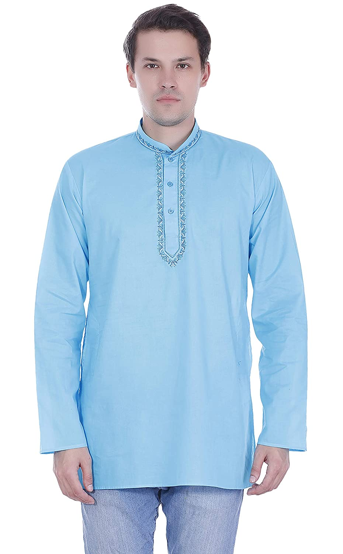 SKAVIJ Herren beiläufig Kleid Hemd Taste-Nieder-Langarm-Shirt Baumwolle Sommerkleid K9