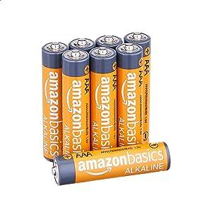 Amazon Basics AAA 1.5 Volt Performance Alkaline Batteries - Pack of 8