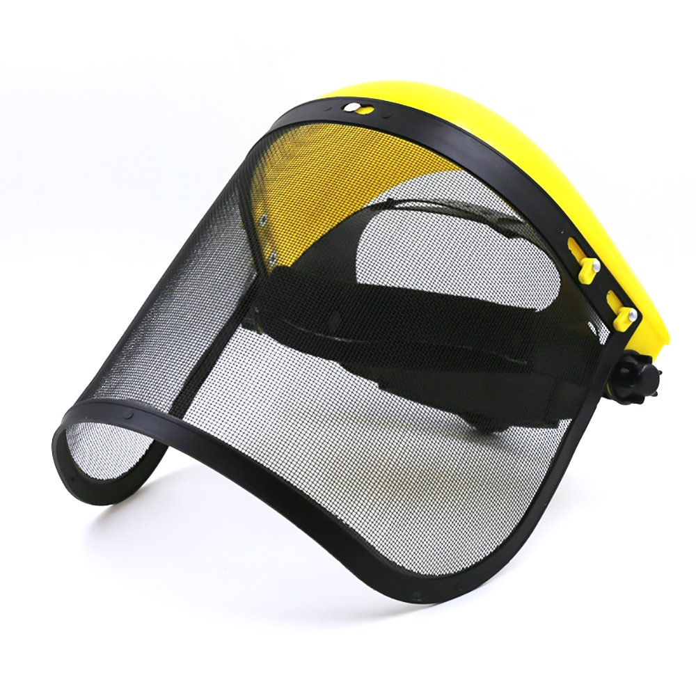 Tong Yue - Casco de seguridad con visera de malla de metal ...