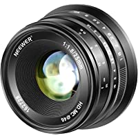 Neewer 25mm f/1.8 Large Aperture Wide Angle Lens Manual Focus Prime Fixed Lens Compatible with Olypums Panasonic Micro 4…