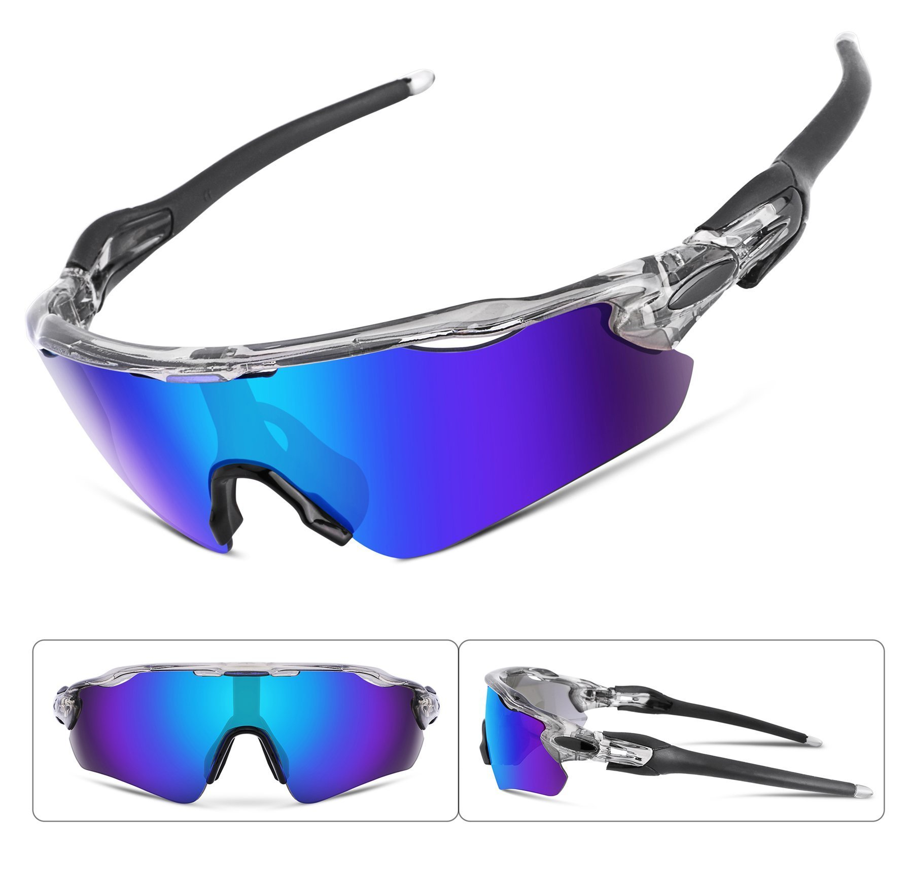 FEISEDY Polarized Sports Sunglasses Changeable Lenses TR90 Frame Cycling Running Fishing Golf Glasses B2280