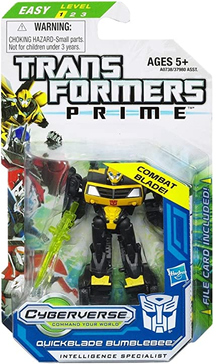Transformers Prime Legion Class QuickBlade Bumblebee Cyberverse Action Figure