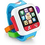 Fisher Price Ríe y Aprende, Mi Primer Smartwatch, Juguete para bebés de 6 Meses en adelante con Sonidos Que enseñan Colores y