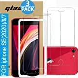 (3 Pack ) Amuoc Tempered Glass Film for Apple iPhone SE(2020) 2nd Generation Screen Protector and iPhone 8/7 Screen Protector, with (Easy Installation Tray) Anti Scratch, Bubble Fre