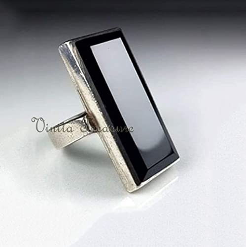 Gift for Her! Sterling Silver  Onyx Ring Great Birthday Gift