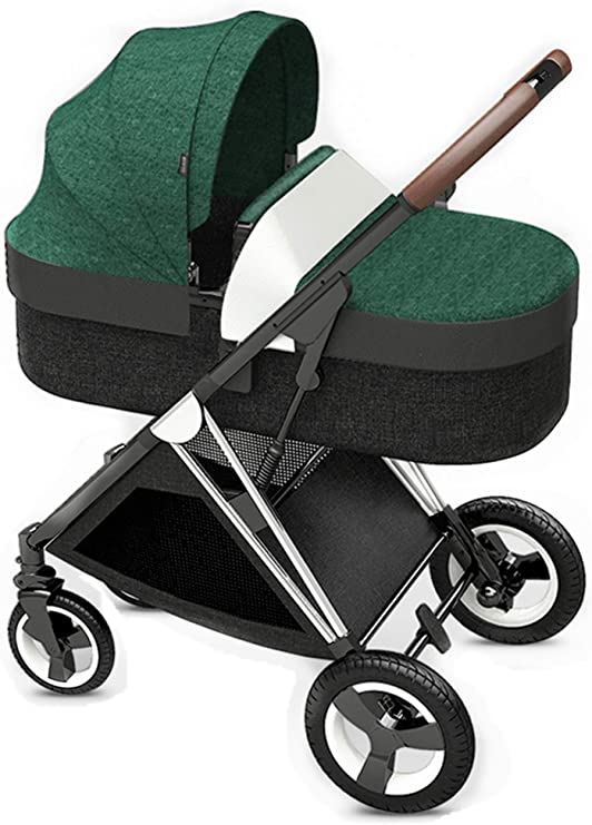 Opinión sobre LYH Puede del Sentarse, Acostarse, Plegable, Transpirable Cochecito con Toldo, Paraguas Bebé (Green)