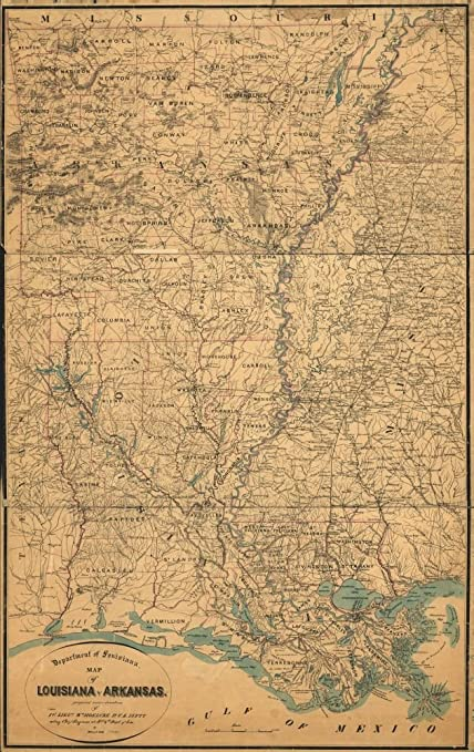 Amazon.com: Vintage 1862 Map of Map of middle and east Tennessee and ...