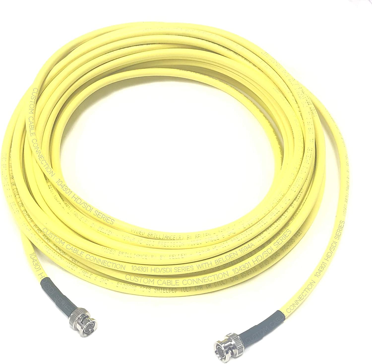 RG6 Digital Video BNC Male to Male Cable Purple New 75/' Belden 1694A SDI-HDTV