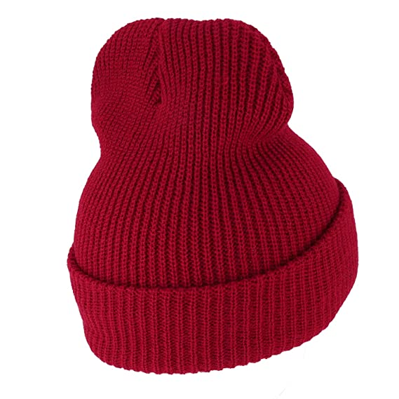 d9445c2eb52 Amazon.com  G.I. Watch Cap with Cuff - Steve Zissou Life Aquatic Theme  Beanie - Red - One Size  Clothing