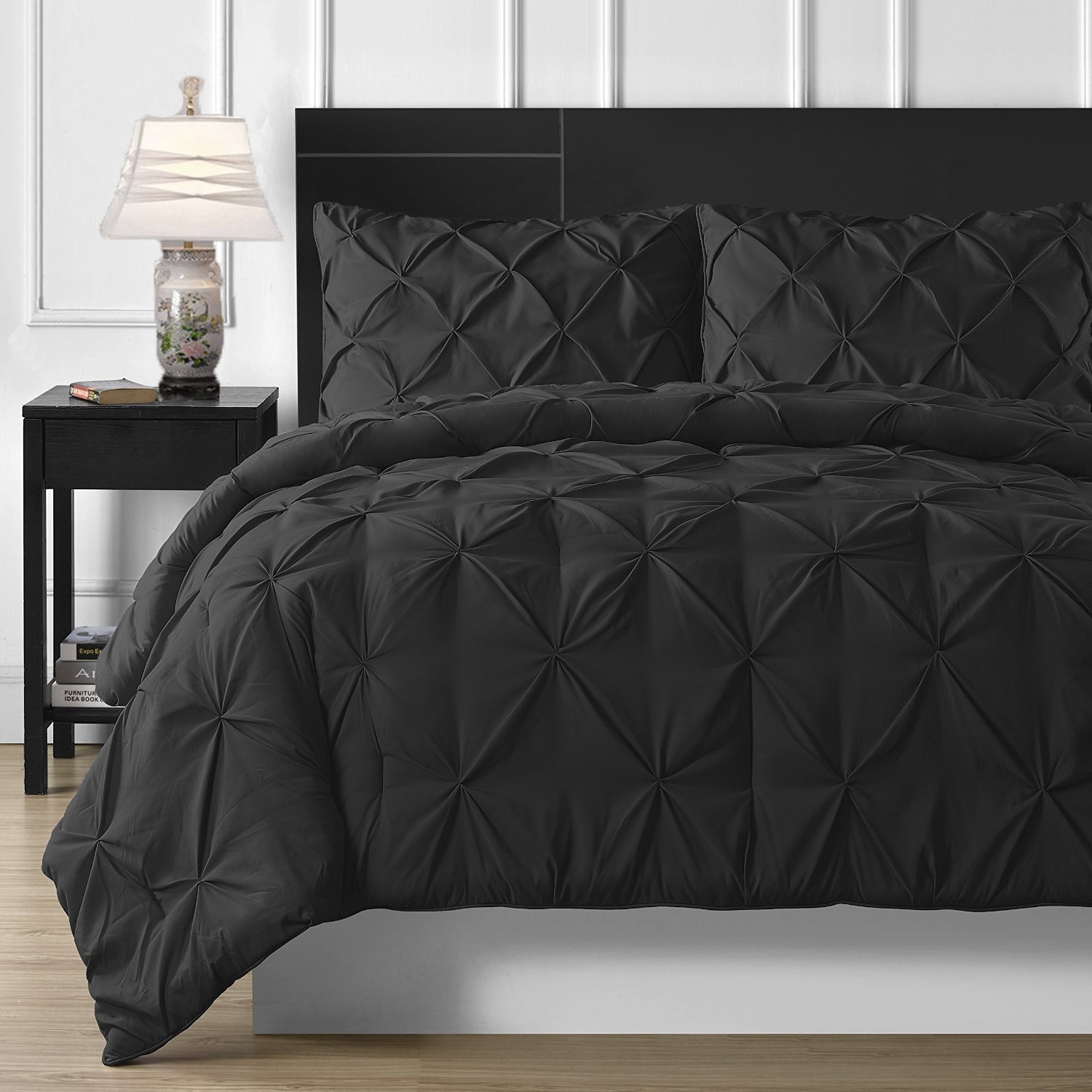 Pinch Pleat Puckering Comforter Set, King Size