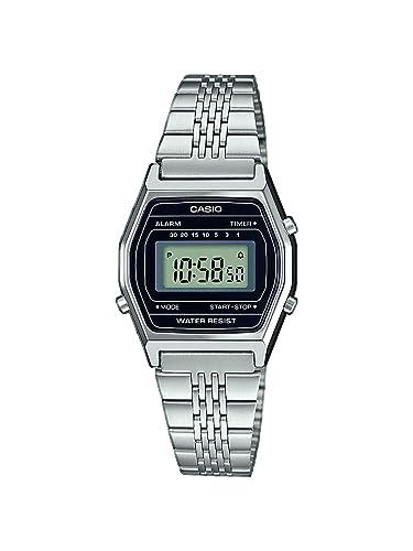 Casio Reloj Digital para Mujer de Cuarzo con Correa en Acero Inoxidable LA690WEA-1EF