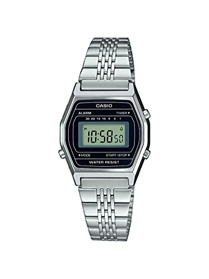 Casio Reloj Digital para Mujer de Cuarzo con Correa en Acero Inoxidable LA690WEA-1EF: Amazon.es: Relojes