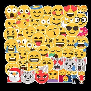 Amazon.com: Pegatinas de Emoji con diseño de cara sonriente ...