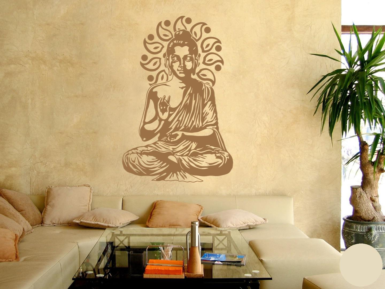 Klebefieber Wandtattoo Buddha B x H  67cm x x x 100cm Farbe  Kupfer B0716KVP9Y Wandtattoos & Wandbilder 41f237