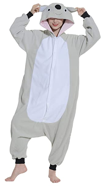 Unisex Animal Pijama Ropa de Dormir Cosplay Kigurumi Onesie Koala Gris Disfraz para Adulto Entre 1