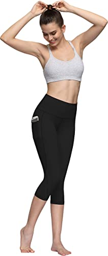 Pongfunsy Womens and Girl/'s Leggings Lady Pocket Yoga Sport Casual Hips High Waist Mesh Workout Gym Sport Pants