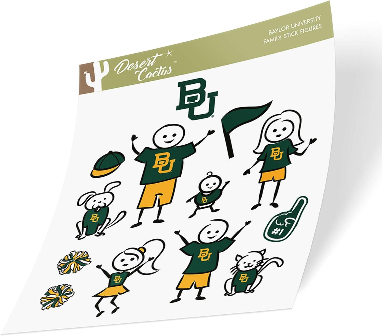 Full Sheet 2-Logo Baylor University Bears NCAA Sticker Vinyl Decal Laptop Water Bottle Car Scrapbook