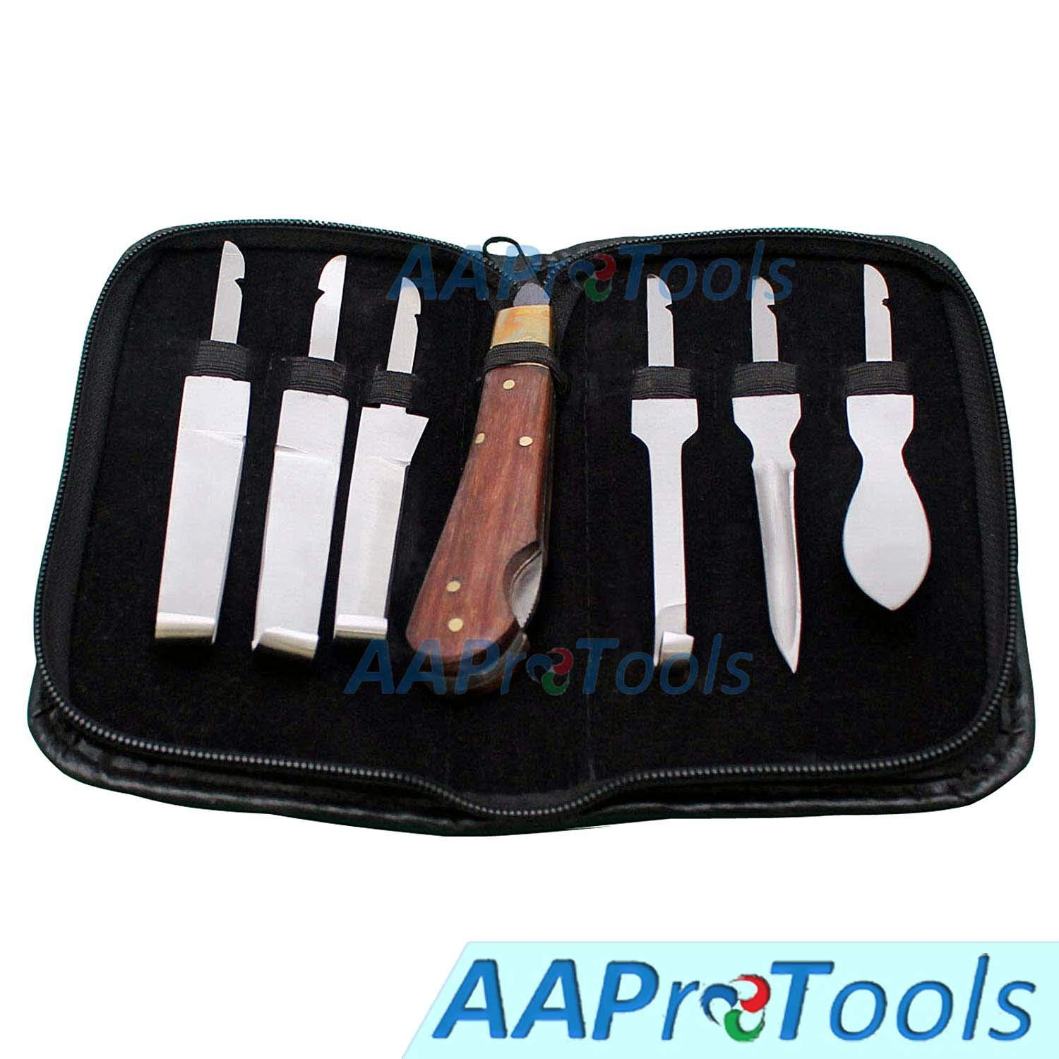 AAProTools Farrier Hoof Knife Kit Set Premium Quality Set of Knives + Carry Pouch by AAProTools