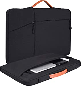 14-15 Inch Laptop Case Briefcase for Dell Inspiron 14 5482,Acer Spin 3 14,Asus Chromebook/Vivobook Flip 14,MacBook Pro 15 inch A1707 A1990/Dell Latitude 14/HP Chromeook Briefcase Laptop Bag(Black)