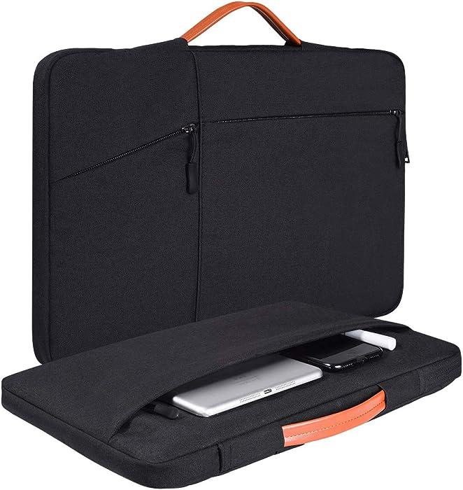 15.6 Inch Laptop Case for HP Envy x360/HP Pavilion x360/HP Spectre x360, Acer Chromebook/Vivobook, Acer Aspire 5/E15, Dell Inspiron 15 5000,Lenovo ThinkPad/IdeaPad 15 Sleeve Bag(Black)