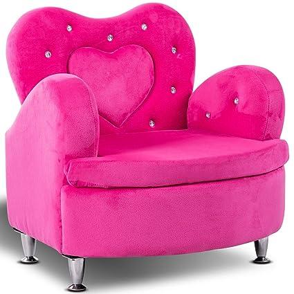 Amazon.com: Costzon Kids Sofa, Toddler Ultra-Soft Velvet Armrest ...