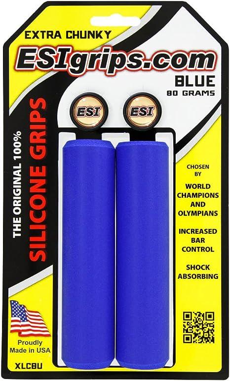 ESI GRIPS Puños Extra Chunky Color Azul: Amazon.es: Deportes y aire libre