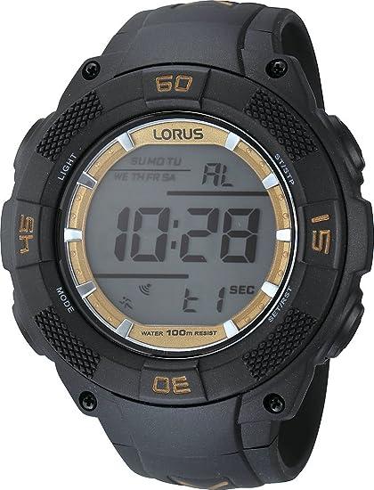 Lorus Sport R2365HX9 - Reloj digital de cuarzo para hombre, correa de goma color negro