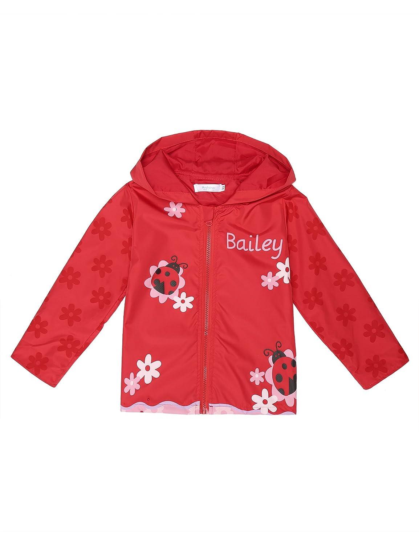 Arshiner Girl Kid Rain Jacket Waterproof Hooded Outwear Raincoat ASS005168