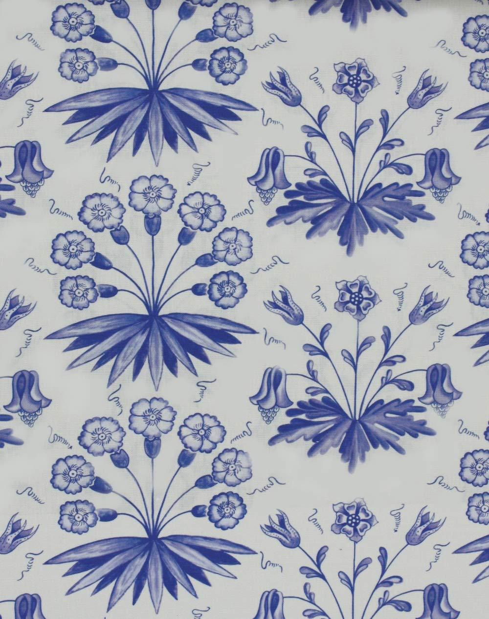 ウィリアムモリス おしゃれな 手芸用 生地 布地 kiji-primrosecol(IO) (224483) 【 約138cm幅×100cm 】 輸入 ファブリック 海外 import クラフト 布 生地 北欧調 アンテーク調 William Morris 植物 花柄 フラワー柄 リーフ 麻 リネン 綿 コットン ナイロン blue ブルー 青  224483 B076V3YMRK
