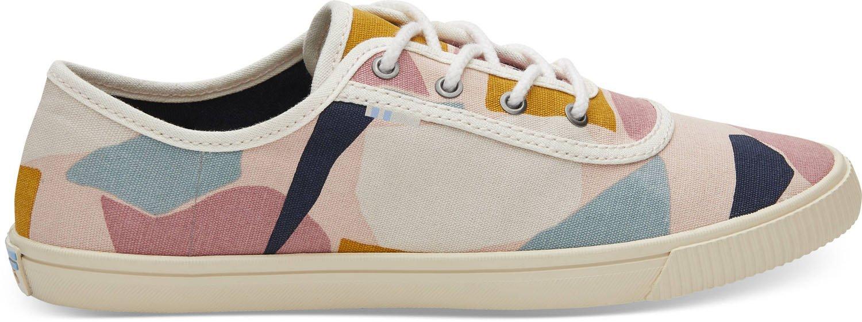 TOMS Women's Carmel Cotton Sneaker, Size: 9 B(M) US, Color Rose Glow Boulders Prt
