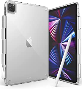 Ringke Fusion Compatible with iPad Pro 11 inch Case, Transparent Back Cover with Attached Pencil Holder [Over Charge Prevention] for 11