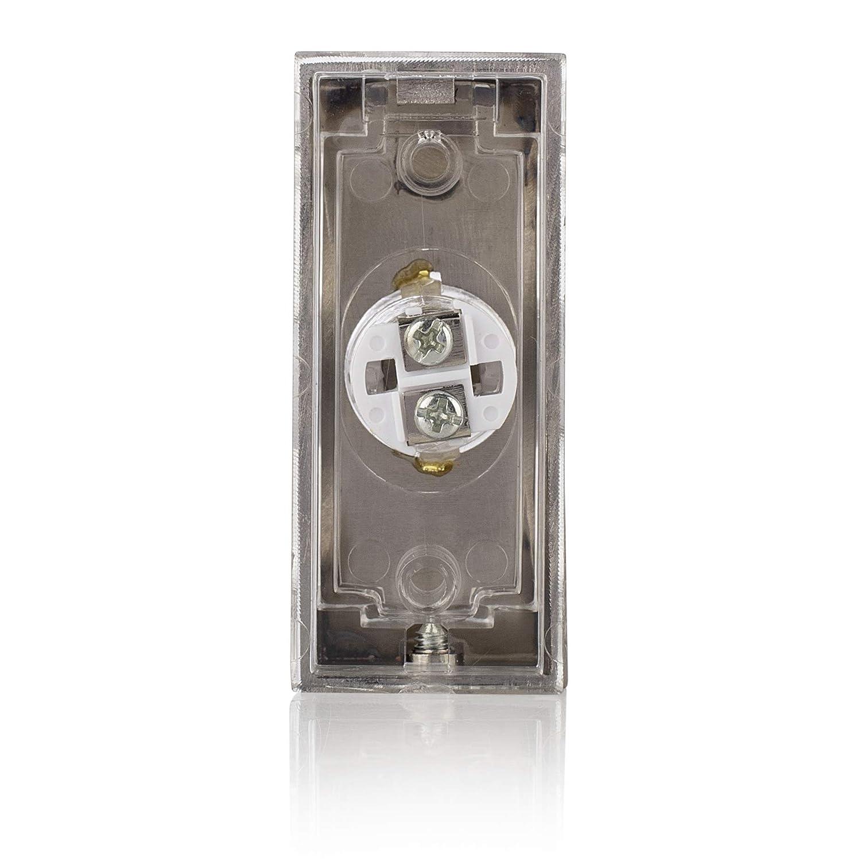 Pulsante Cablato per Campanello da Superficie 7910 Byron 00.640.15 Bianco