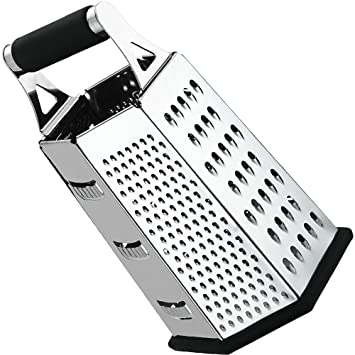 Awesome Cheese Grater Vegetable Slicer Stainless Steel   6 Sides , 9.5 Inch