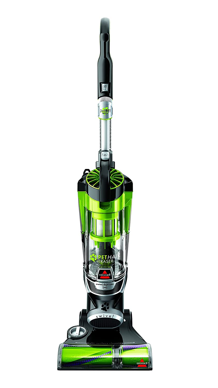 Bissell Pet Hair Eraser 1650A Upright Vacuum Tangle Free Brushroll