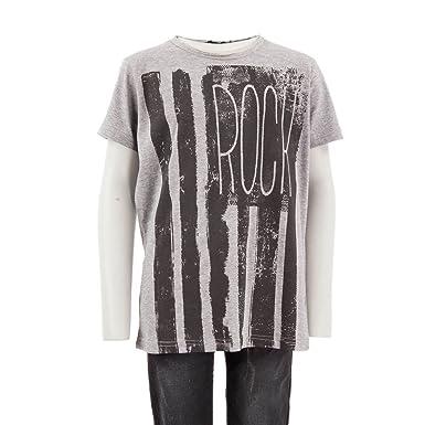 464babd4e657 Best Mountain T-Shirt Gris et Noir Garçon Rock Couleur - Gris ...