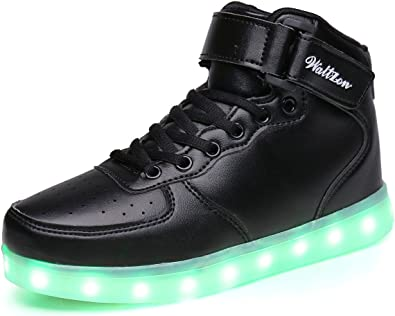 WaltZon LED Light Up Fashion Sports Flashing Sneaker Shoes for Kids Boys Girls