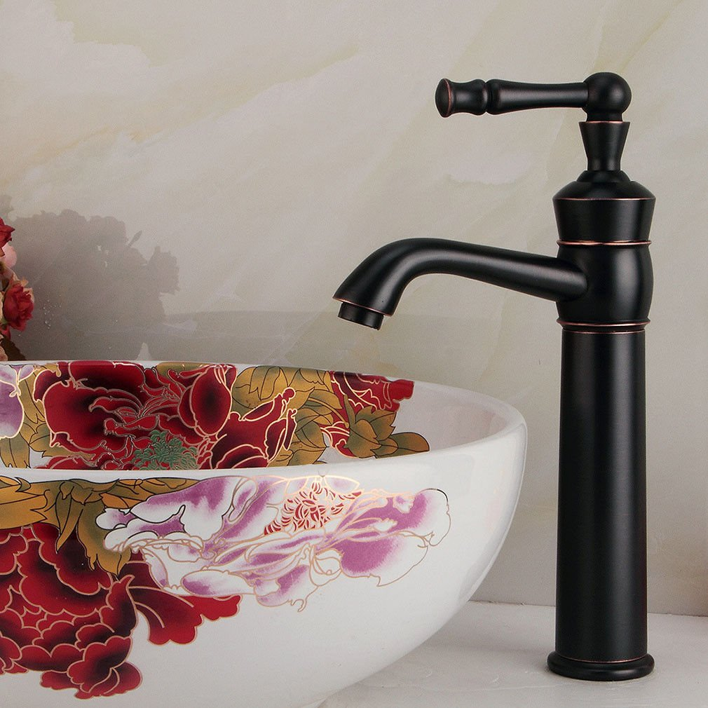 LHbox Basin Mixer Tap Bathroom Sink Faucet European blackAntique single handle single hole bathroom basin mixer