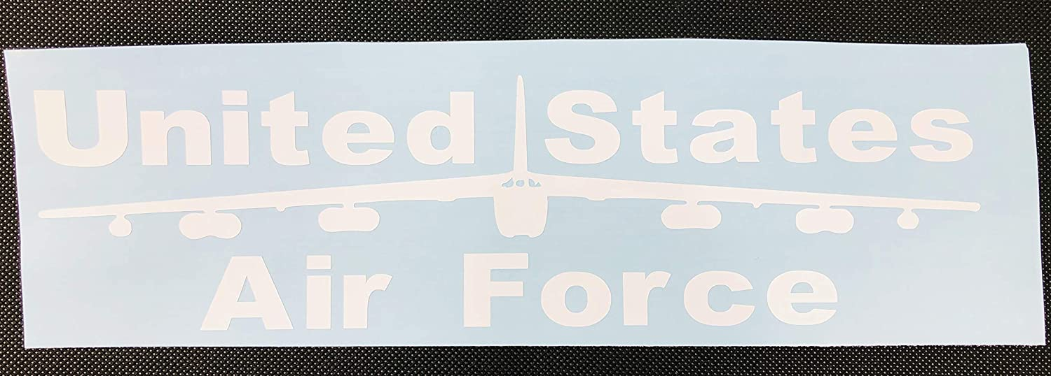 New Gift United States Air Force Airplane White Vinyl Car Decal Strip