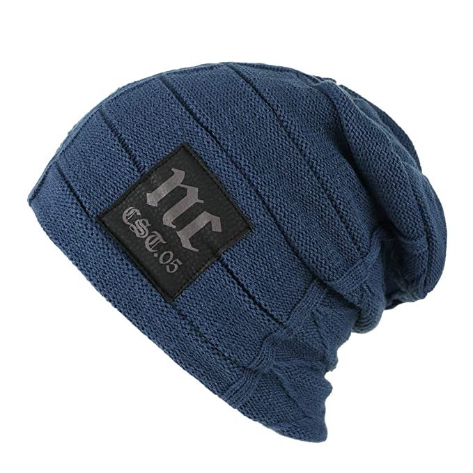 707dc8b988124e Männer frauen häkeln winter wolle stricken ski villus dicker beanie slouchy  caps hut warme mütze herren damen - long slouch mit fleece grobstrick  gefüttert ...