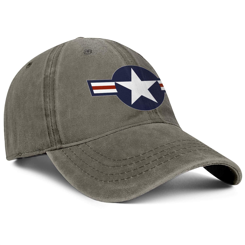 Walking Baseball Hat Unisex MenSimple Denim Dad Hat Packable United-States-Air-Force-Roundel