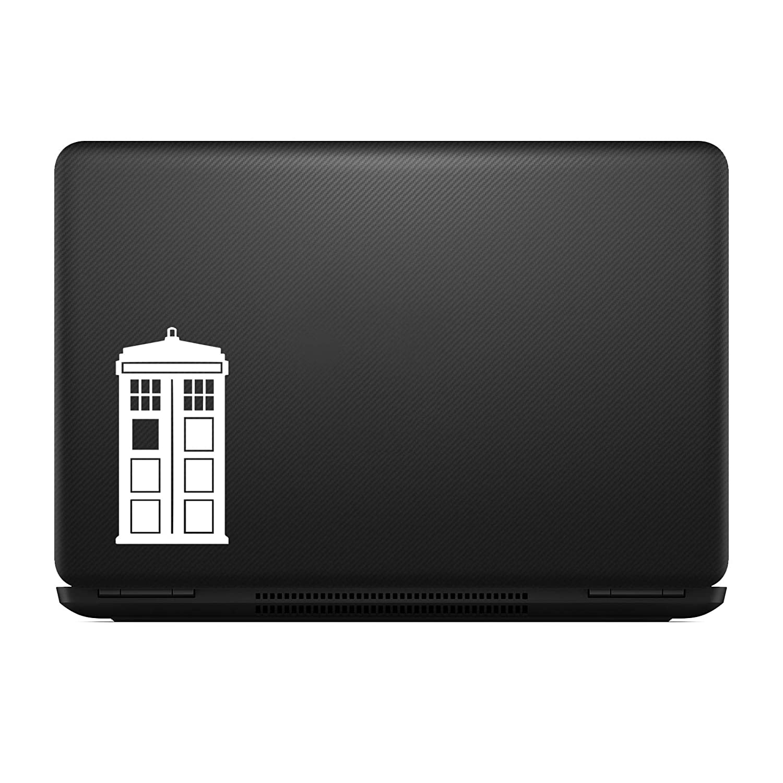 White MAX-100008 DW Tardis Whovian Sticker Decal Notebook Car Laptop 5 Bargain Max Decals