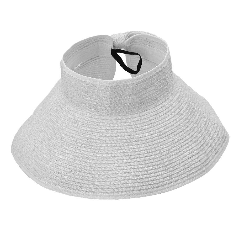 Chapeau Pare-Soleil Pliable Chapeau de Plage Eté Pliant Grand Bord Protection UV pour Femmes Filles VGEBY